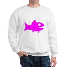 Pink Fish Outline Sweatshirt
