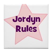 Jordyn Rules Tile Coaster