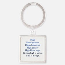 Old Age High Square Keychain