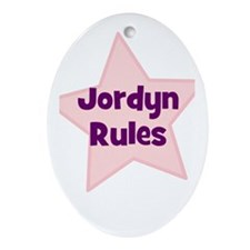 Jordyn Rules Oval Ornament