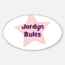 Jordyn Rules Oval Decal