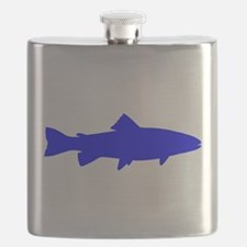Blue Trout Outline Flask