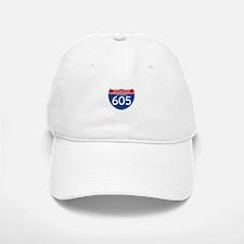Interstate 605 - CA Baseball Baseball Cap