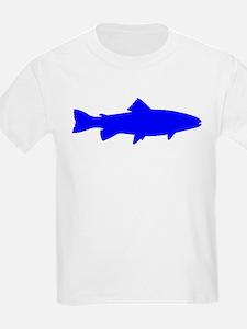 Blue Trout Outline T-Shirt