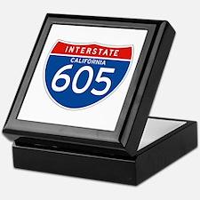 Interstate 605 - CA Keepsake Box