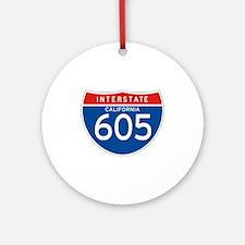 Interstate 605 - CA Ornament (Round)