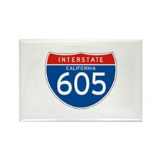 Interstate 605 - CA Rectangle Magnet (10 pack)