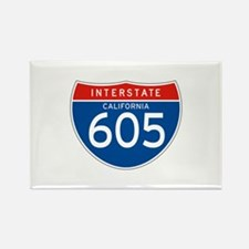 Interstate 605 - CA Rectangle Magnet