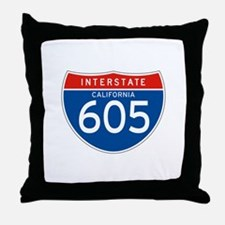 Interstate 605 - CA Throw Pillow