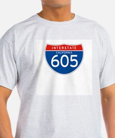 Interstate 605 - CA Ash Grey T-Shirt