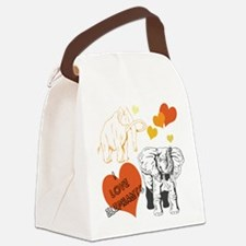 Elephants Canvas Lunch Bag