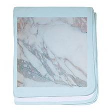 White Marble baby blanket