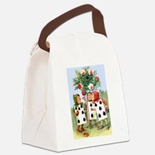 Painting the Queen's Roses Canvas Lunch Bag