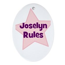 Joselyn Rules Oval Ornament