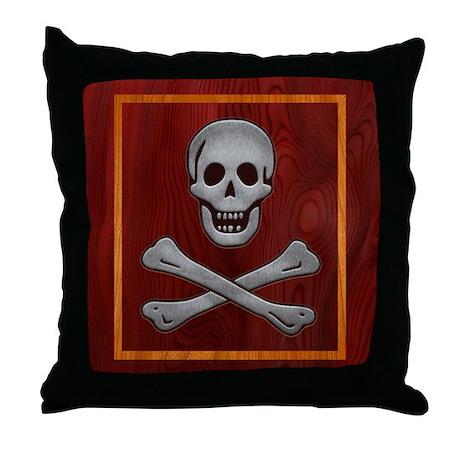 Inlaid Bio Hazard II Throw Pillow