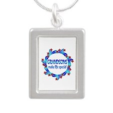 Grandsons are Special Silver Portrait Necklace