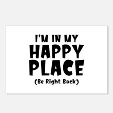 I'm In My Happy Place Postcards (Package of 8)