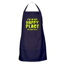 I'm In My Happy Place Apron (dark)