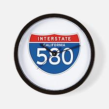 Interstate 580 - CA Wall Clock