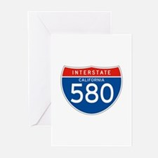 Interstate 580 - CA Greeting Cards (Pk of 10)
