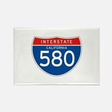 Interstate 580 - CA Rectangle Magnet