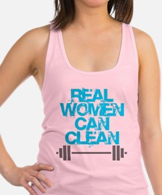 Real Women Can Clean (Light Blue) Racerback Tank T