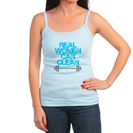 Real Women Can Clean (Light Blue) Jr. Spaghetti Ta