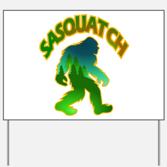 Sasquatch Forest Scene Yard Sign