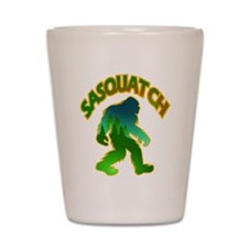 Sasquatch Forest Scene Shot Glass