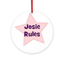 Josie Rules Ornament (Round)