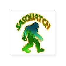 Sasquatch Forest Scene Sticker