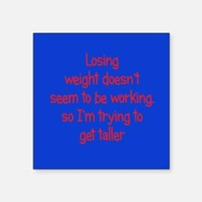 "Weight Loss Secrets Square Sticker 3"" x 3"""