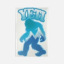 Yeti Mountain Scene Rectangle Magnet