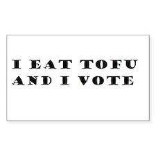 I Eat Tofu and I Vote Decal