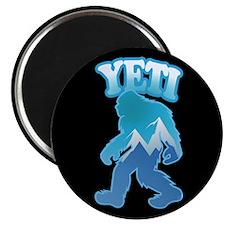 Yeti Mountain Scene Magnet