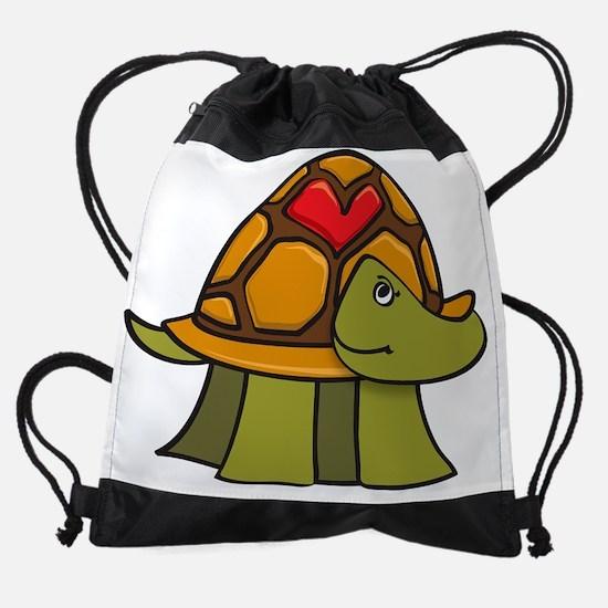 Turtle Shell Heart Drawstring Bag