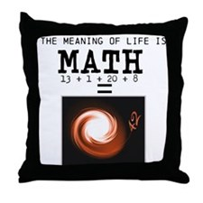Meaning of life is math Throw Pillow