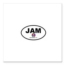 "Jam San Francisco Square Car Magnet 3"" x 3"""