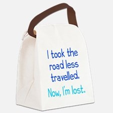 Road Less Travelled Canvas Lunch Bag