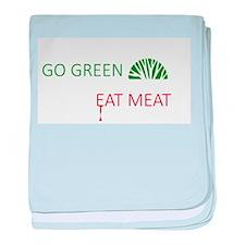 Go Green Eat Meat baby blanket