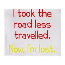 Road Less Travelled Throw Blanket
