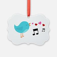 Singing Blue Bird Ornament
