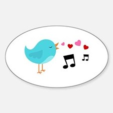 Singing Blue Bird Decal