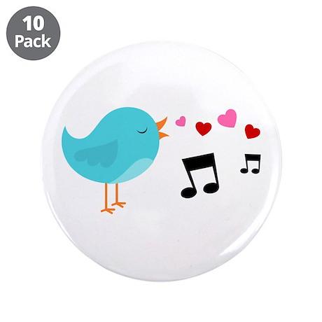 "Singing Blue Bird 3.5"" Button (10 pack)"