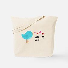 Singing Blue Bird Tote Bag