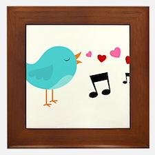 Singing Blue Bird Framed Tile