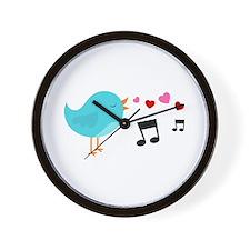 Singing Blue Bird Wall Clock