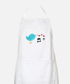 Singing Blue Bird Apron