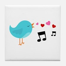 Singing Blue Bird Tile Coaster