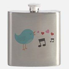 Singing Blue Bird Flask